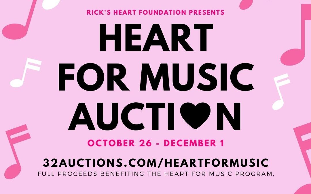 The Heart for Music Auction has launched!