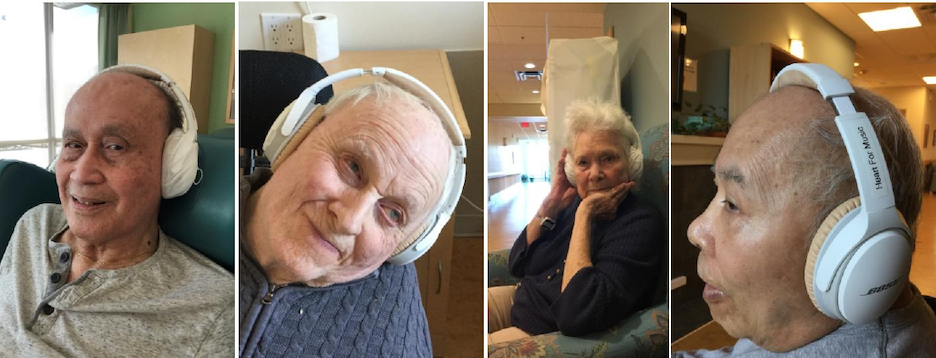 surrey seniors enjoying music therapy program by heart for music